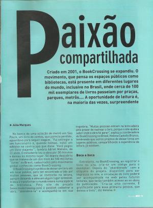 Helena Castello Branco, BookCrossing Brasil (1)
